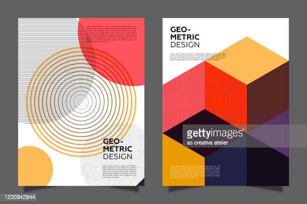 retro covers set. geometric style modernism. vintage colors posters. - swiss culture stock illustrations