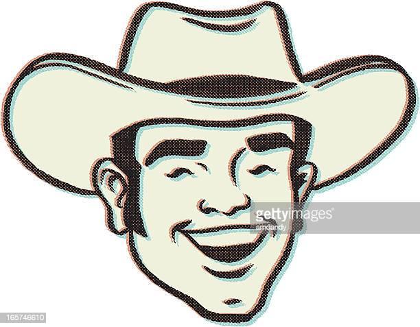 ilustrações de stock, clip art, desenhos animados e ícones de menino retro vaca - rodeio
