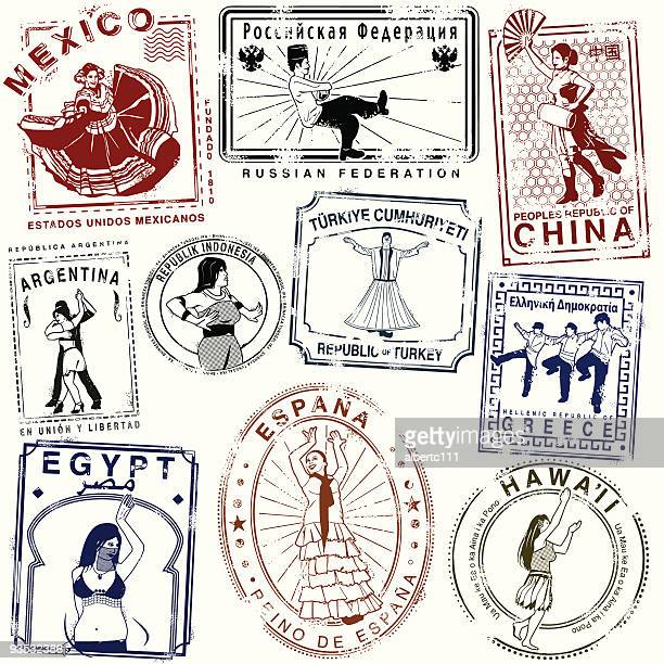 Retro Dance passport Stamps