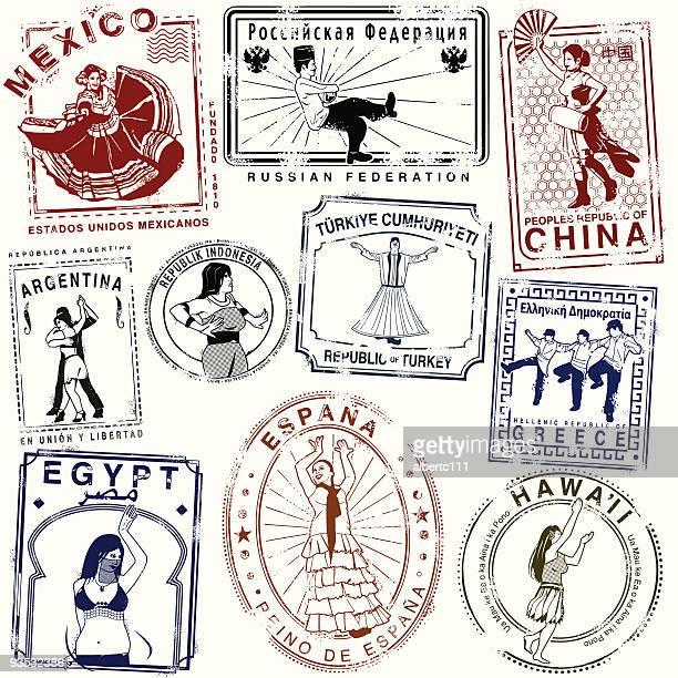 Dança Retro passaporte selos
