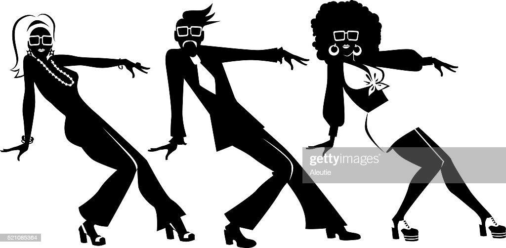 Retro dancing clipart