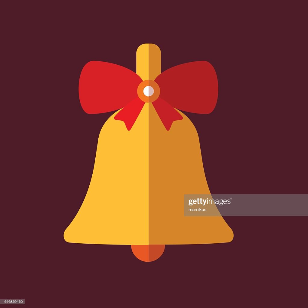 Retro decorative Christmas bell : Vector Art