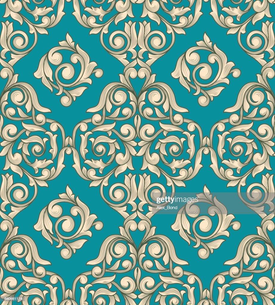 Retro decorative seamless pattern