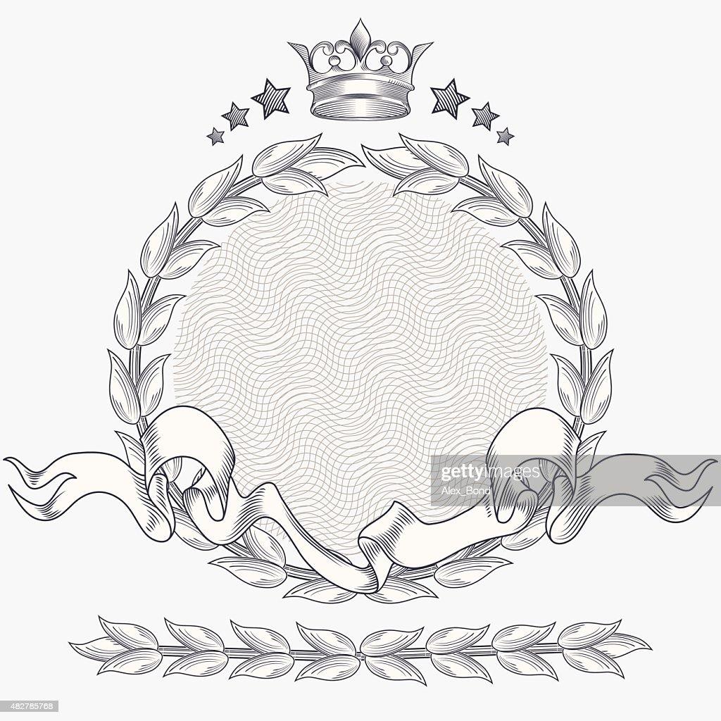 Retro decorative vintage emblem