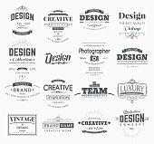 Retro Design Creative Vintage labels