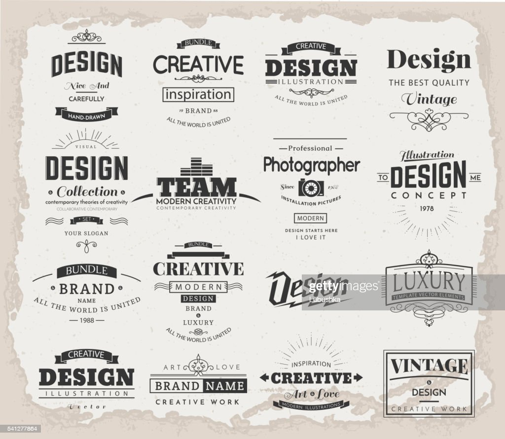 Retro Design Creative Vintage labels