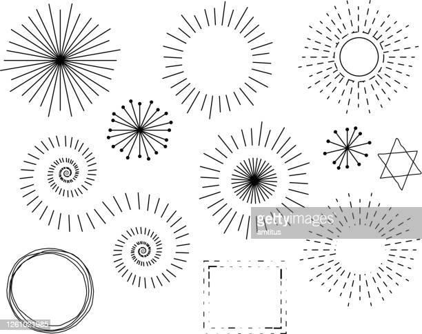 レトロなデザイン要素 - 装飾美術点のイラスト素材/クリップアート素材/マンガ素材/アイコン素材