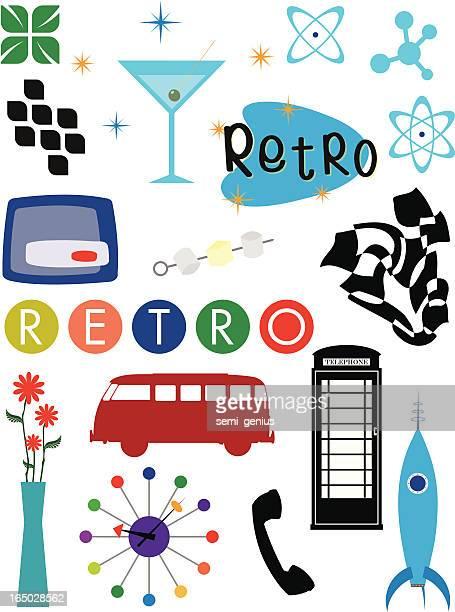 retro design elements - arugula stock illustrations, clip art, cartoons, & icons
