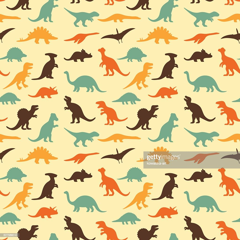 retro dinosaur pattern
