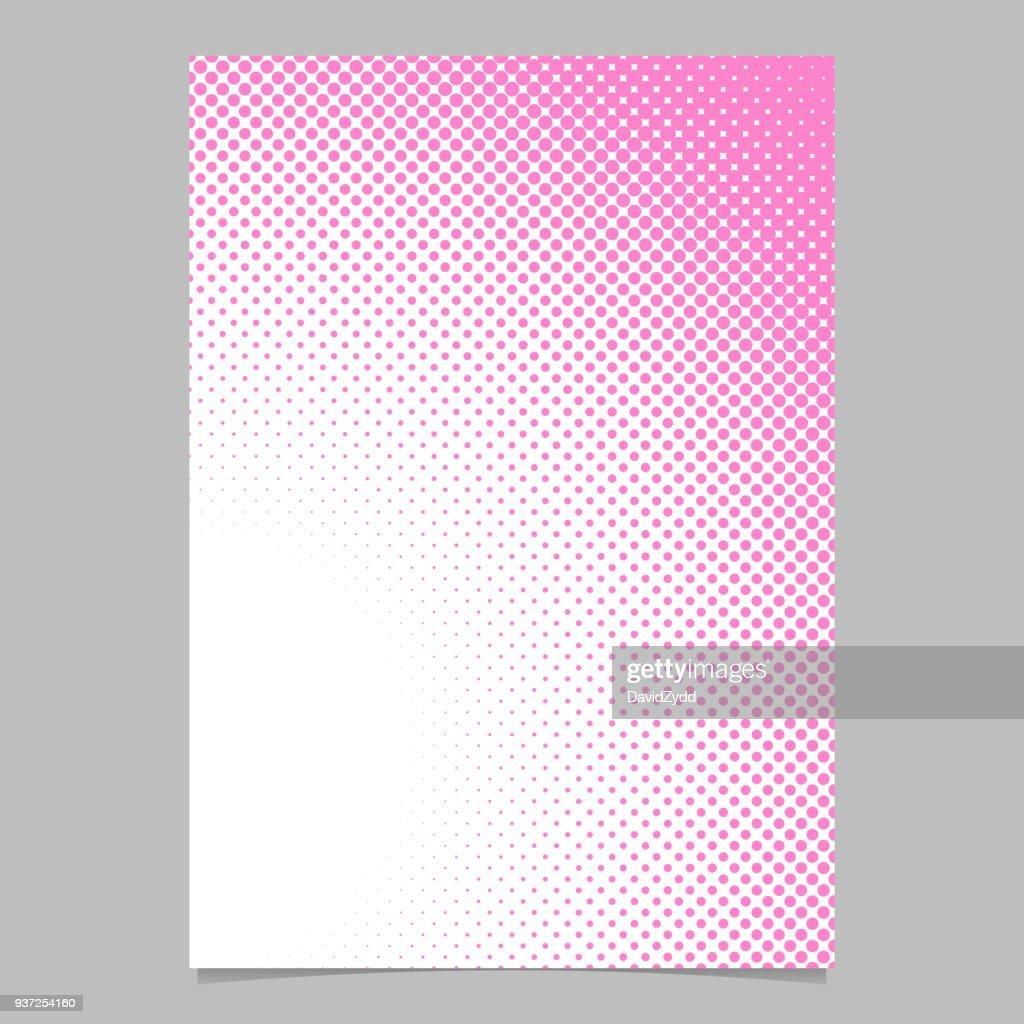 Retro dot pattern background poster template design - vector stationery illustration