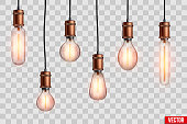 Retro edison light bulb set