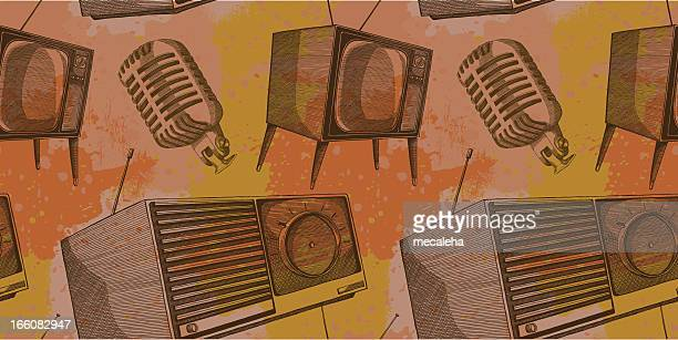 retro electronics - television industry stock illustrations