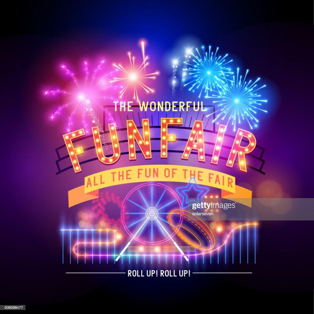 Retro Fairground Circus Sign