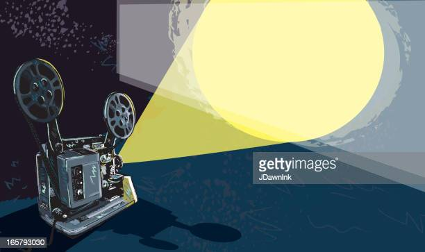 Retro film projector and light