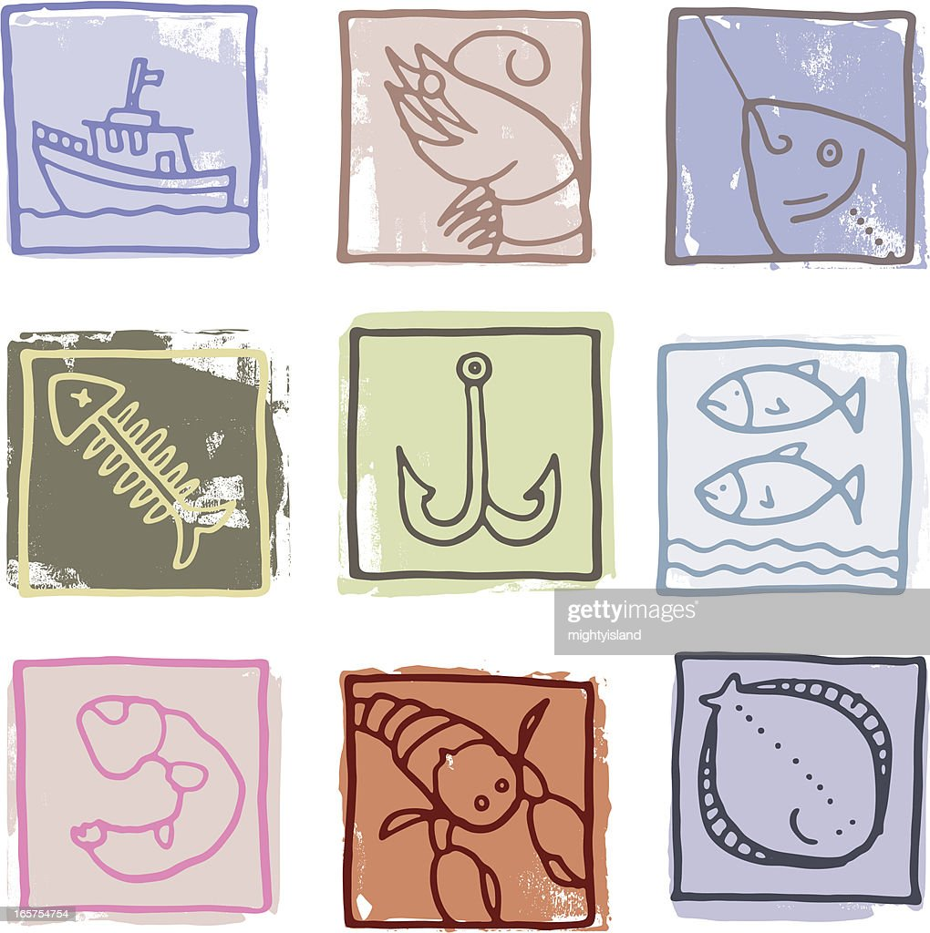Retro fish prints