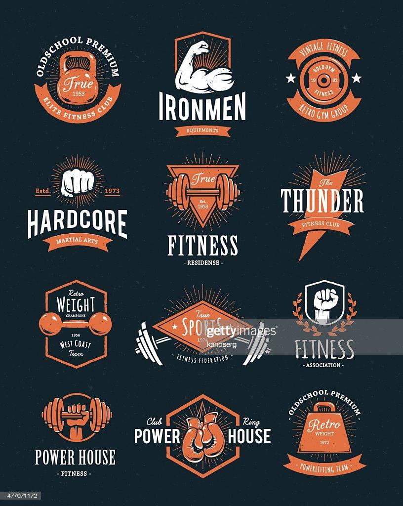 Retro Fitness Emblems
