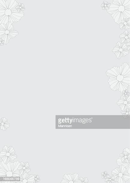 Retro Floral frame - Vector