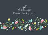 retro flower background concept. Vector illustration design