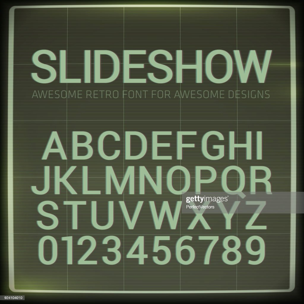 Retro font with blur effect