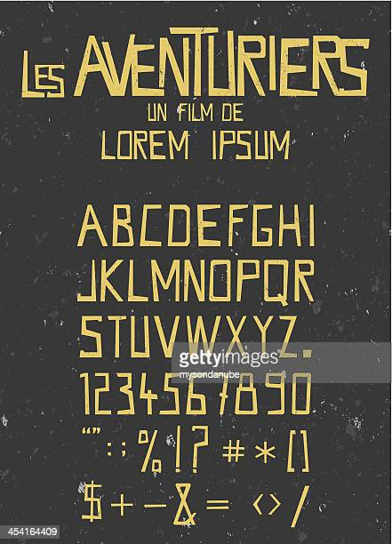 retro font with seamless grunge texture background