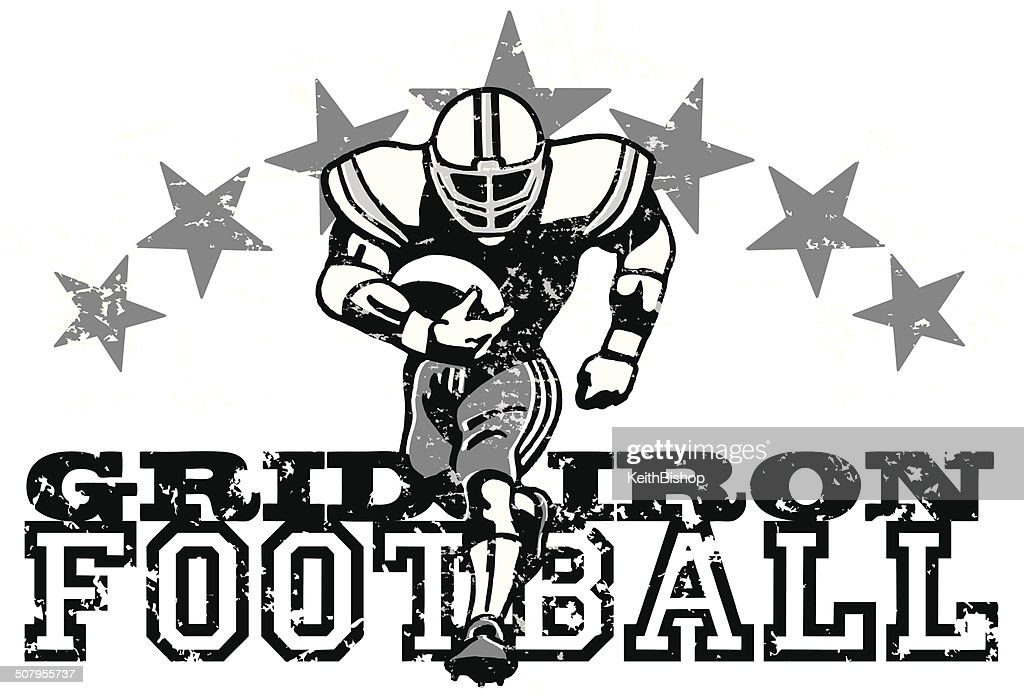 Retro Football Graphic Background