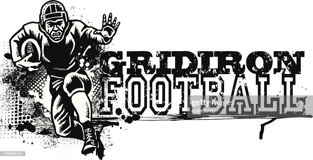 Retro Football Graphic - Gridiron