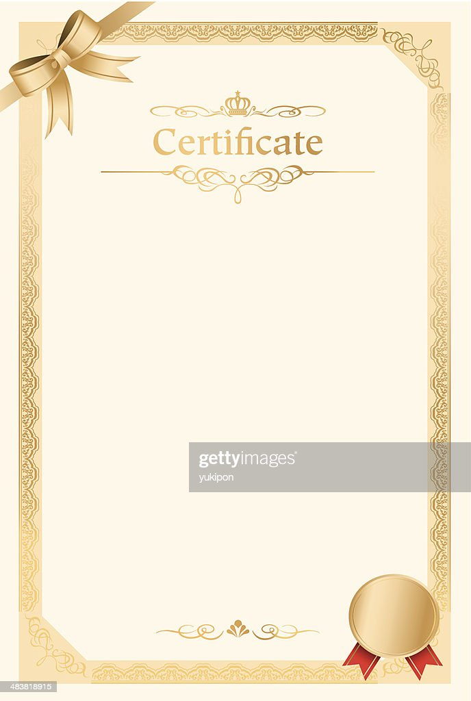 Retro Frame Certificate Template Vector Vector Art Getty Images