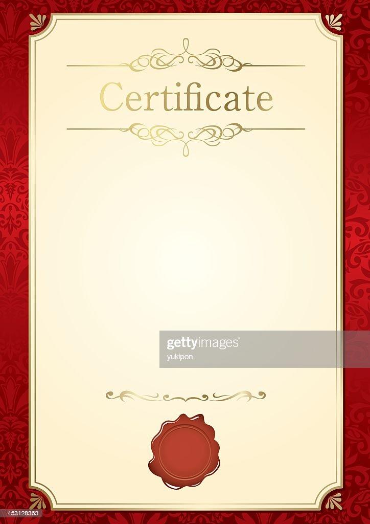 Retro frame customizable certificate template