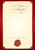 Retro frame customizable certificate template