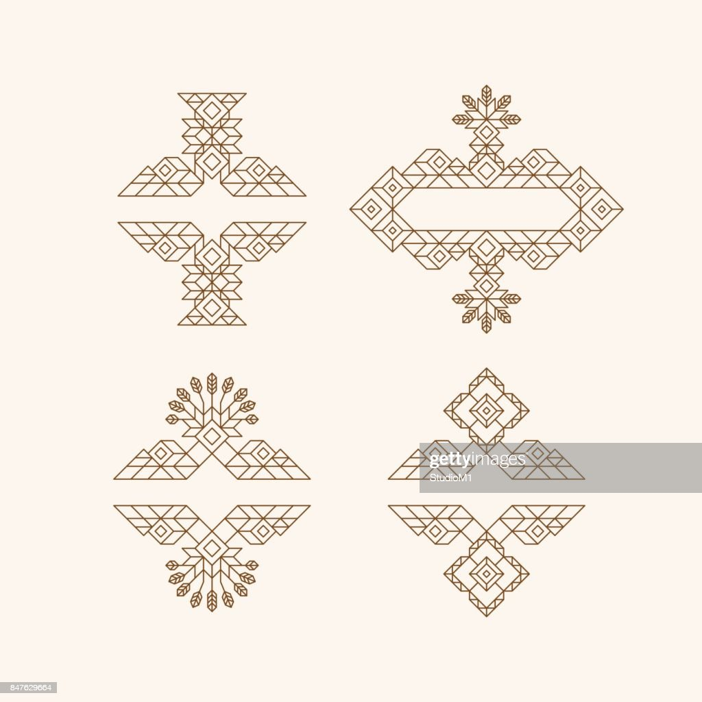 Retro frame with place for text vintage decoration element vintage decoration element illustration for marketing and business presentation line art design for invitations posters and labels vector linear frame stopboris Choice Image