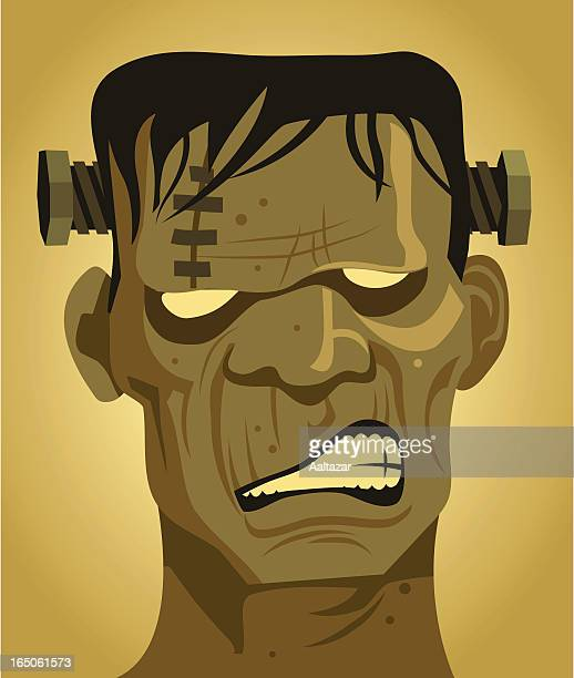 retro frankenstein - zombie stock illustrations, clip art, cartoons, & icons