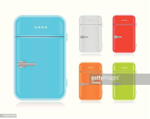 レトロフリッジ - 冷蔵庫点のイラスト素材/クリップアート素材/マンガ素材/アイコン素材