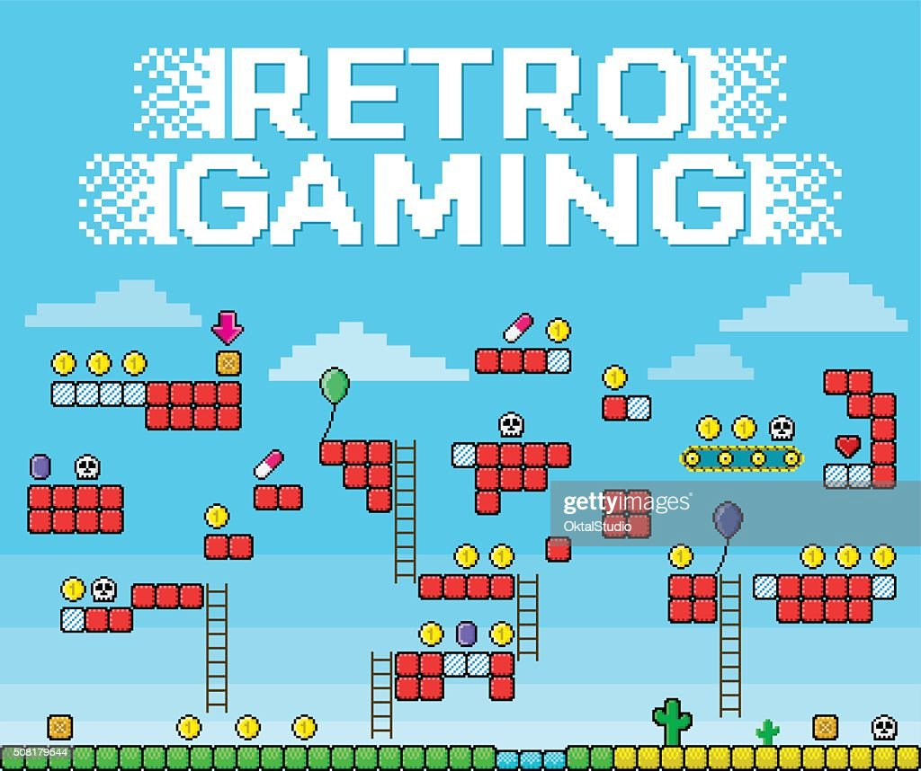 Retro Gaming - Pixelated Platformer