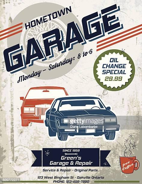 Retro Garage Automotive Poster or Sign