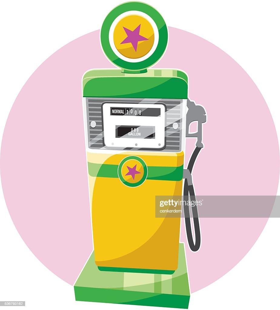 Retro gas pomp : stock illustration
