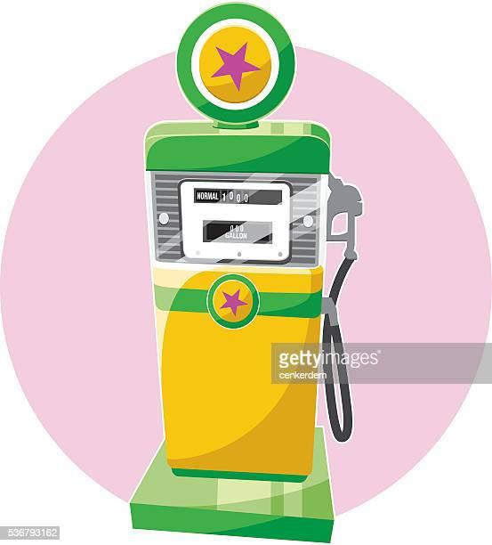 stockillustraties, clipart, cartoons en iconen met retro gas pomp - fuel pump