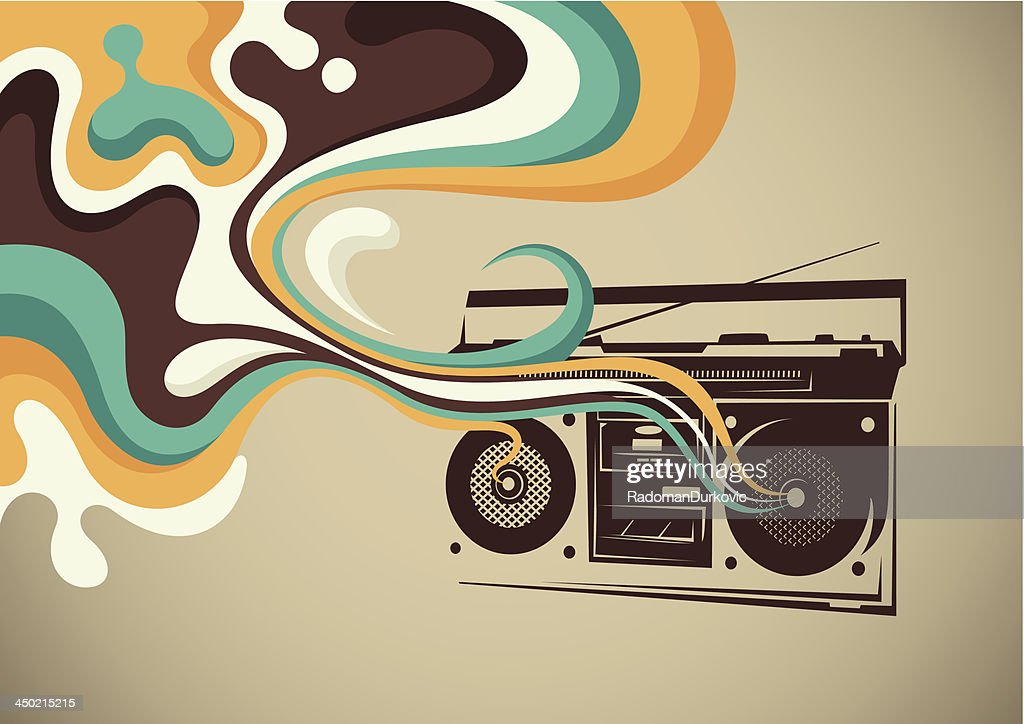 Retro ghetto blaster.