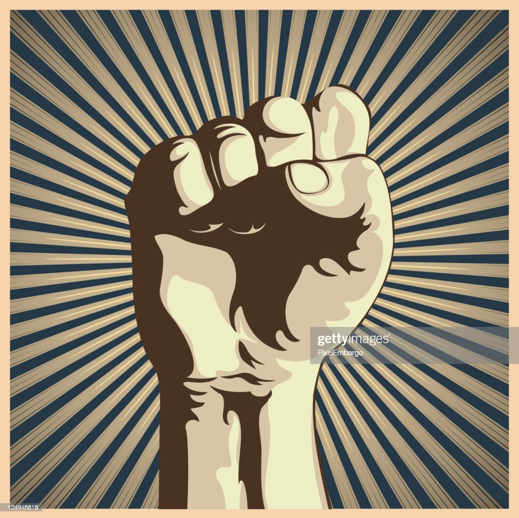 Retro graphic of a clenched fist