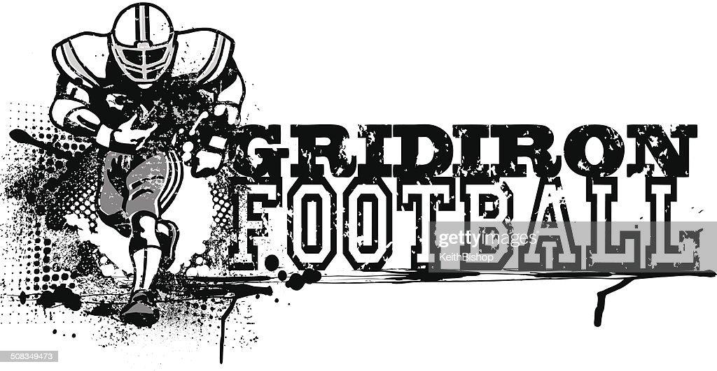 Retro Grunge Football Graphic - Gridiron