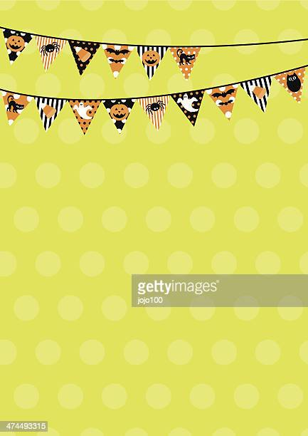 Retro Halloween Bunting Design with Copy Space