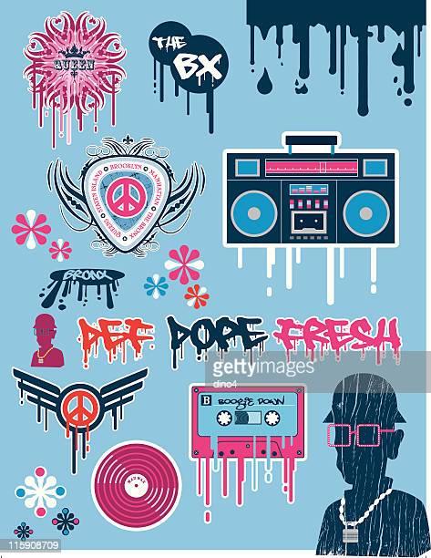 Iconos Retro hip hop