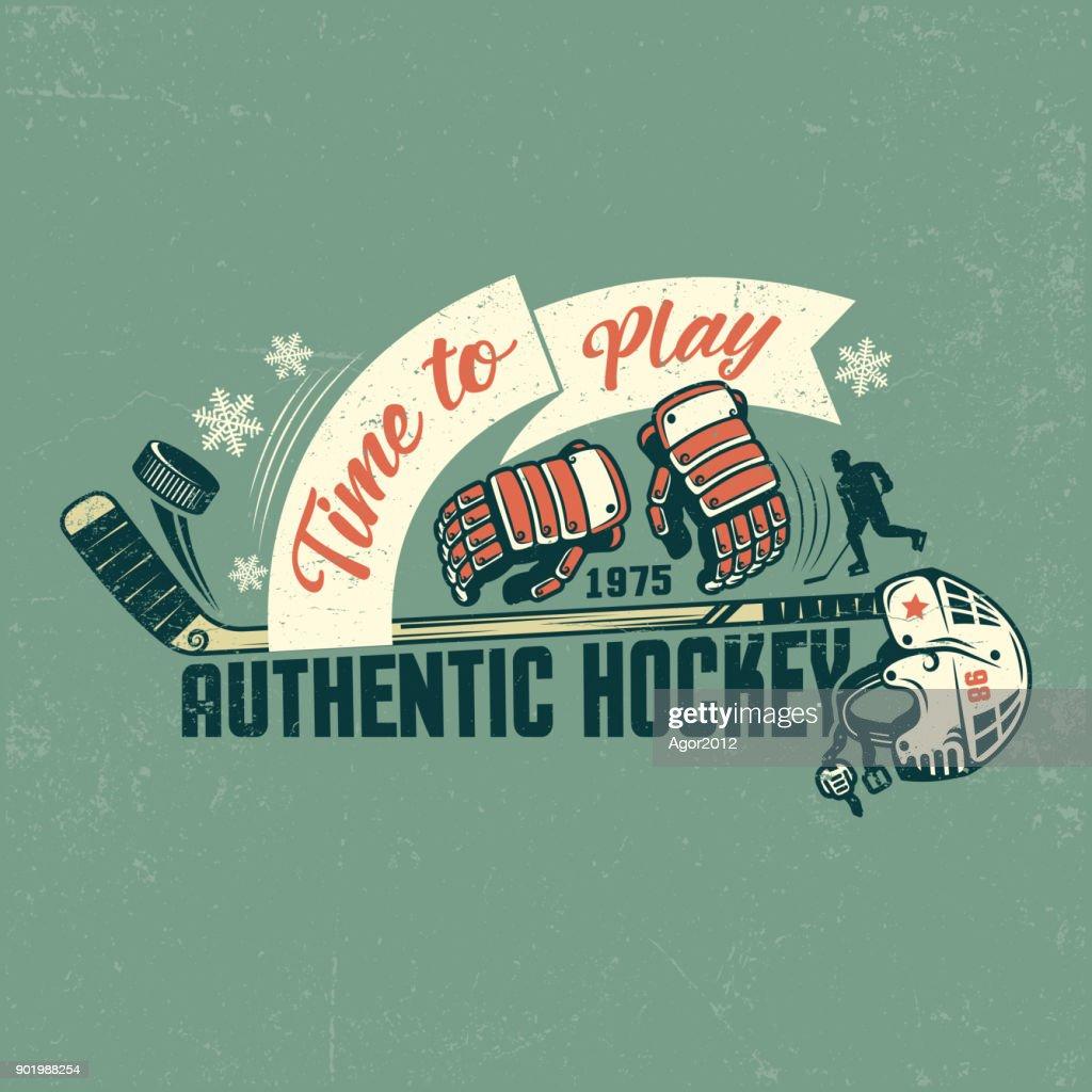 Retro hockey poster