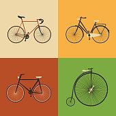 Retro Icons - Bicycles