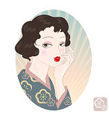 Retro Japan woman image