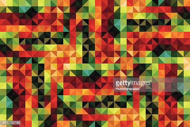 ilustraciones, imágenes clip art, dibujos animados e iconos de stock de caleidoscopio estilo retro vector de fondo - patchwork