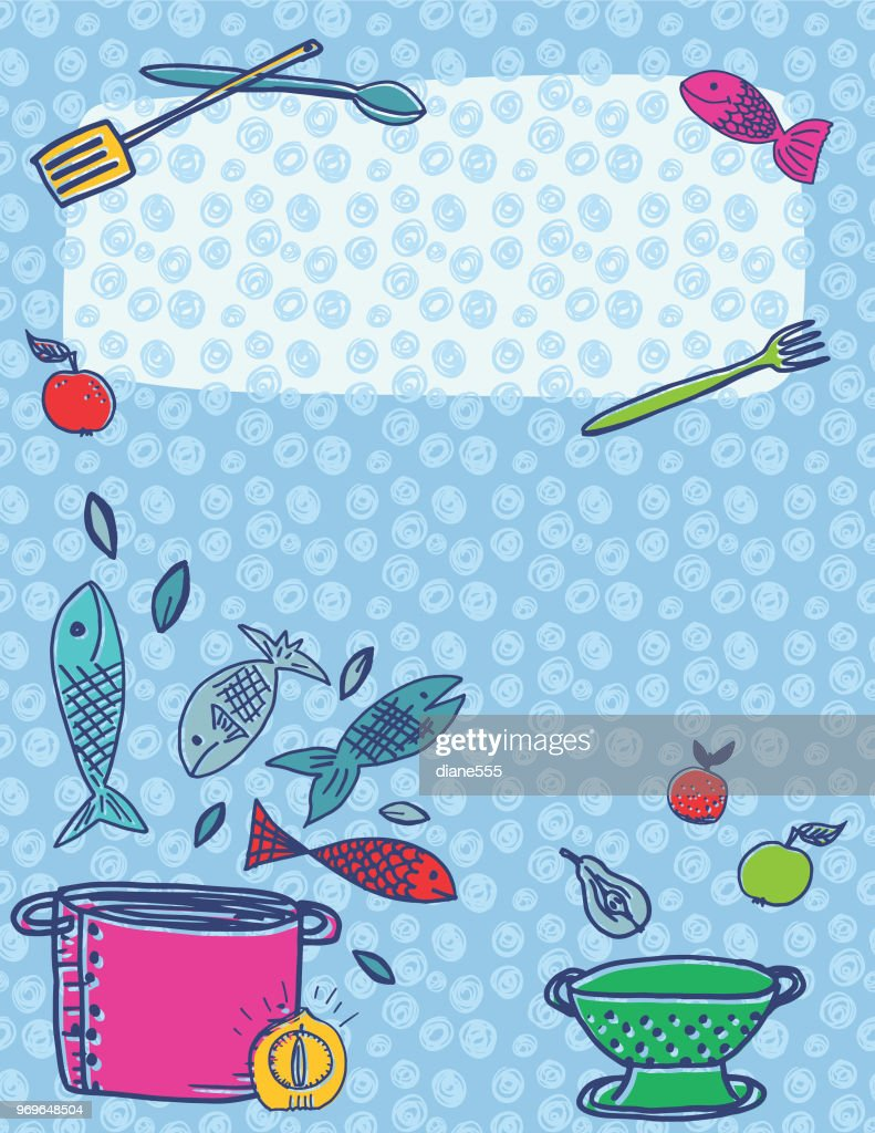 Retro Kitchen Gadgets Backgrounds : Vector Art