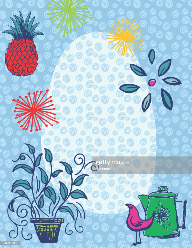 Retro Kitchen Gadgets Backgrounds Vector Art | Getty Images