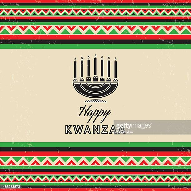 Retro Kwanzaa Celebration Card