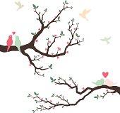 Retro Love Bird Wedding Invitation- Illustration