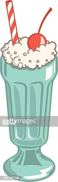 ilustrações, clipart, desenhos animados e ícones de retro de malte - milk shake